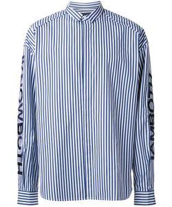 Juun.J   Awning Stripe Shirt 50 Cotton