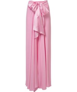 Tome | Charmeuse Long Bow Front Skirt 2 Silk