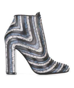 Salvatore Ferragamo | Striped Ankle Boots
