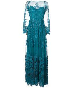 Zuhair Murad   Draped Sheer Maxi Dress