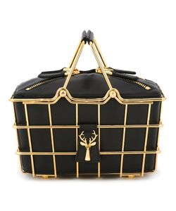 Savas | Mini Caroline Basket Bag Leather/Metal Other
