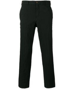 Comme Des Garçons Homme Plus   Striped Cropped Trousers Size 4