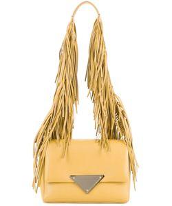 Sara Battaglia | Fringed Strap Shoulder Bag
