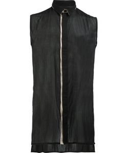 Cedric Jacquemyn | Concealed Fastening Sleeveless Shirt 48 Cotton