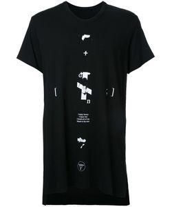 Julius | Text Print T-Shirt 4 Cotton/Modal