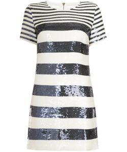 Veronica Beard | Sequinned Striped Dress