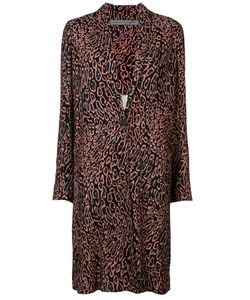 Raquel Allegra | Leopard Print Midi Coat