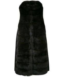 Manzoni 24 | Hooded Sleeveless Fur Jacket