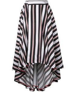G.V.G.V.   G.V.G.V. Stripe High Low Hem Flared Skirt