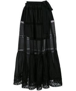 Alberta Ferretti | Semi-Sheer Flared Maxi Skirt Cotton/Other