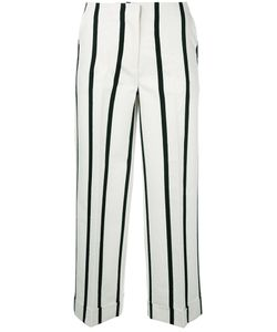 Twin-Set   Striped Cropped Trousers 38
