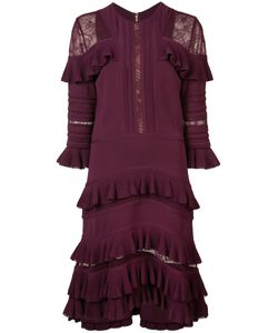 Elie Saab   Lace Insert Ruffled Dress