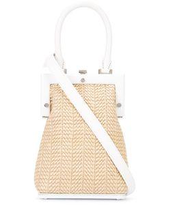 Perrin Paris | Woven Crossbody Bag Straw/Leather