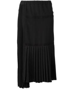 No21   Asymmetric Pleated Skirt 42 Silk/Acetate