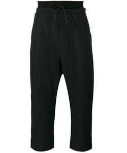 Isabel Benenato | Drawstring Drop-Crotch Cropped Trousers 50