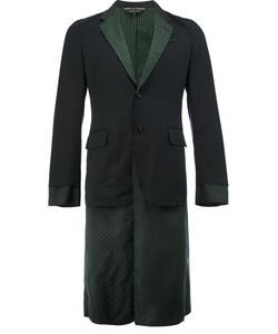 Comme Des Garçons Homme Plus   Layered-Effect Patterned Blazer Size Small