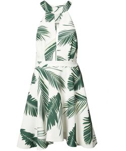 C/Meo | Leaf Print Mini-Dress Medium