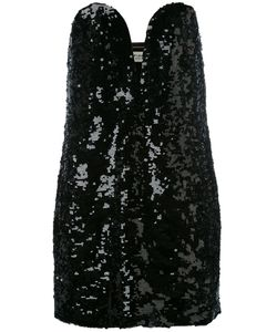 Saint Laurent | Sequin Strapless Dress