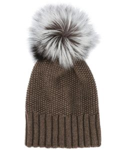 Inverni | Fox Fur Pom Pom Beanie Women Fox