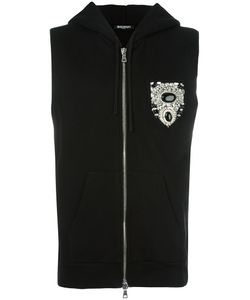 Balmain | Sleeveless Chest Patch Hoodie Large Cotton
