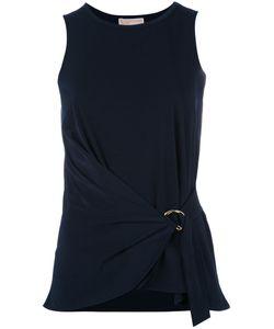 Michael Michael Kors   Belted Sleeveless Top Xs Polyester/Spandex/Elastane
