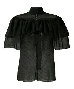 Rodarte | Frilled Sheer Shirt S