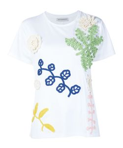 Vika Gazinskaya | Crochet Appliqué T-Shirt