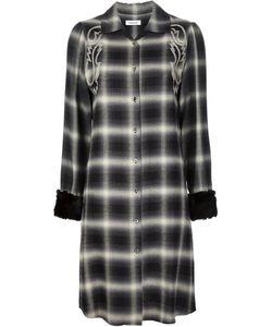 Christian Dada   Western Embroidered Plaid Dress