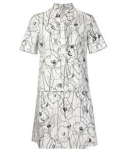 Jason Wu | Scribble Flower Print Shirt Dress 8