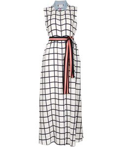 Novis | Sleeveless Checked Shirt Dress