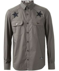 Education From Youngmachines | Star Print Button Down Shirt