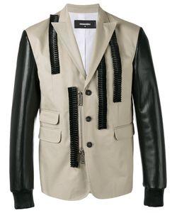 Dsquared2 | Leather Ruffle Blazer Size 52