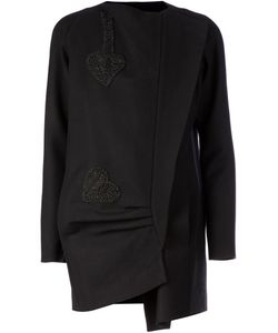 Sharon Wauchob | Crepe Asymmetric Embroidered Jacket