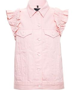 Simone Rocha X J Brand | Denim Vest With Ruffle Details