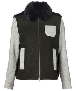 Arthur Arbesser | Faux Fur Panel Jacket 40 Polyester/Virgin
