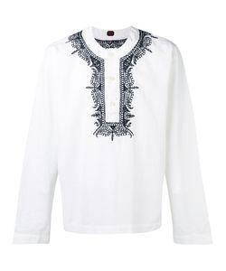 Mp Massimo Piombo   Embroidered Trim Buttoned Tunic Medium
