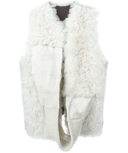 Ann Demeulemeester Blanche | Draped Collar Shearling Jacket