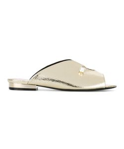 Coliac   Pearl Detail Mules Size 38