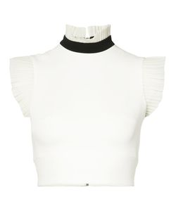 David Koma | Frill Trim Sleeveless Crop Top