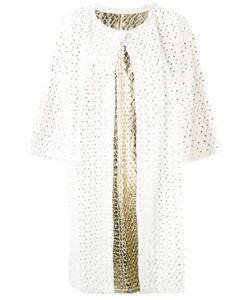 Yves Salomon   Perforated Coat Size 40