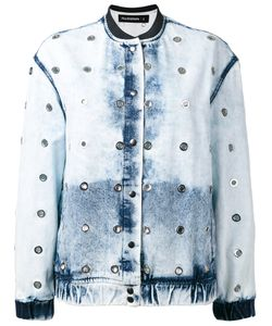Filles A Papa | Bleached Effect Bomber Jacket