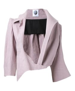 Aganovich | Asymmetric Lapel Cropped Jacket