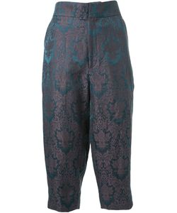 Aganovich | Baroque Jacquard Cropped Trousers 40