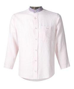 Longjourney | Contrast Band Collar Shirt