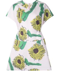 Julien David | Sunflower Print Day Dress Medium