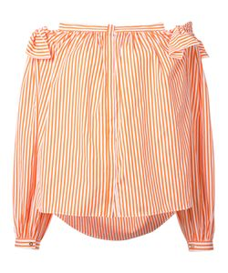 Maison Rabih Kayrouz | Striped Off-Shoulder Top 34 Cotton