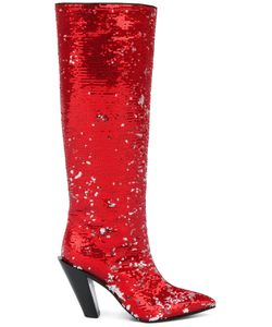 A.F.Vandevorst   Sequinned Pointed Boots Size 38