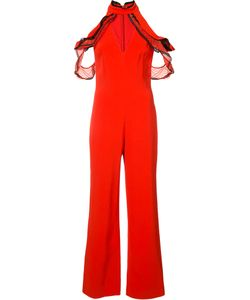 Jonathan Simkhai | Ruffled Cold Shoulder Jumpsuit Size