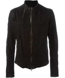 Lost And Found   Zip Detail Leather Jacket