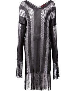 Di Liborio | Crocheted Fringed Cape Top